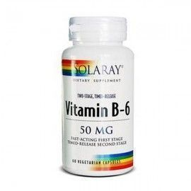 Vitamina B6 50 mg - Solaray - 60 cápsulas acción retard