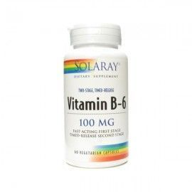 Vitamina B6 100 mg Acción Retard - Solaray - 60 cápsulas