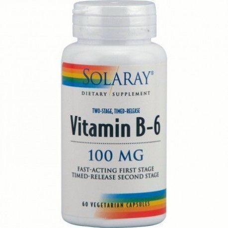 Vitamina B6 100 mg - Solaray - 60 cápsulas