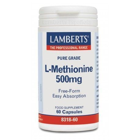 L-Metionina 500 mg - Lamberts - 60 Caps Cap