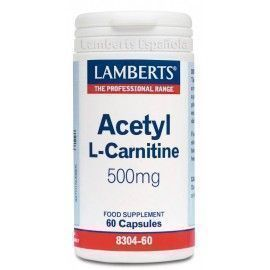 Acetil L-Carnitina 500 mg - Lamberts - 60 Caps Cap