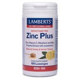 Zinc Plus. (Sin Aspartamo) - Lamberts - 100 Past Tab