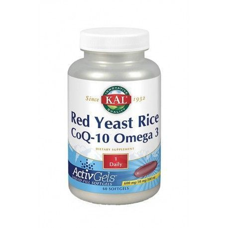 Red Yeast Rice (600 mg) + CoQ10 y Omega3 - KAL - 60 perlas