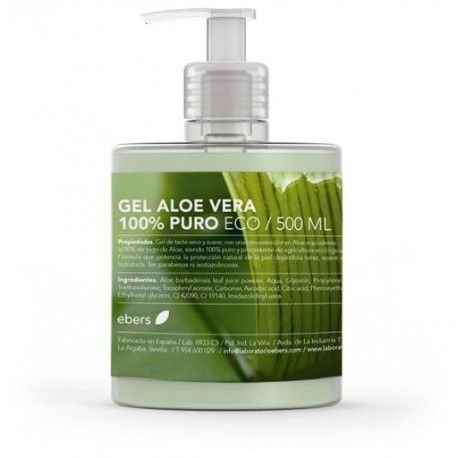 Gel Aloe Vera 100% Puro Ecológico- Botánica Nutrients - 500 ml
