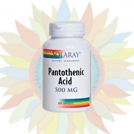 Pantothenic Acid 500 mg (Vitamina B5) - Solaray - 100 cápsulas