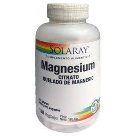 Big Magnesium Citrate - Solaray - 180 cápsulas