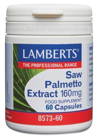 Extracto de Saw Palmetto 160 mg - Lamberts - 60 cápsulas